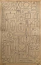 Joaquin Torres Garcia 1930 - Ink on paper 10.5 x 6.5