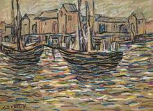 Charles Salis Kaelin - Pastel on paper - 11.3