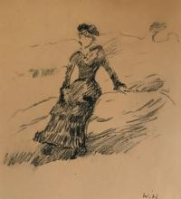 Winslow Homer - Charcoal on paper 8