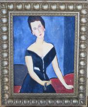 A. Modigliani - Oil on Canvas - COA - 19.5