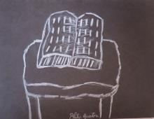 Philip Guston - Chalk on paper - 9.5