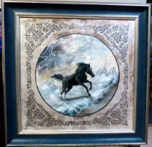 Kovganko Tatiana (Russian Art) Horse - Mother of pearl - Unique