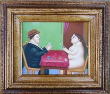 Fernando Botero - Oil on Canvas -