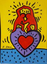 Keith Haring - Gouache on Paper-