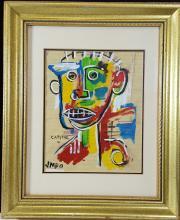 Jean Michele Basquiat - Watercolor on paper - COA 10