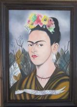 Frida Kahlo - Oil on Canvas - 1940 COA - Spectacular 22.5