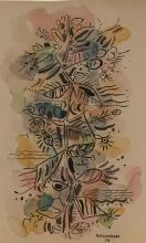 Rene Portocarrero - 1956 -  Watercolor on paper 13