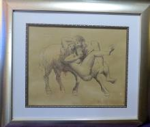 Pablo Picasso - Ink on paper - COA - Dedicated - 13