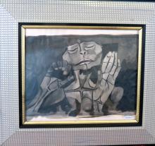 Osvaldo Guayasamin Oil on Canvas  Certificate on the Back