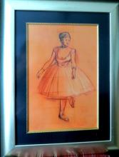 Degas - Mixed Media on Paper - w/ COA.  Dancer