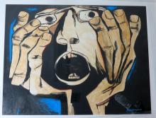 Guayasamin Watercolor on Paper COA Excellent