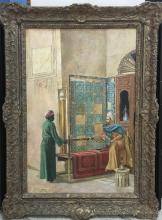 Ludwig Deutsch Attrib Oil on Canvas Frame: 37