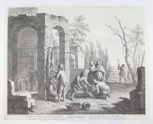 Bartolozzi, inv Zocchi-Decembre, 1750 ca.