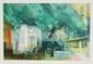 Paul AMBILLE (1930-2010)   Le square.  Lithographie en couleurs sur papier.  Signé en bas à droite. Numéroté 31/175 en bas à gauche  57 x 82 cm