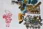 CORNEILLE (1922-2010)   Composition aux personnages rouges - 1967  Lithographie en couleur sur papier  signé et daté en bas vers la gauche. Justifié HC en bas à gauche   38 x 55,5 cm
