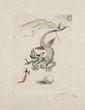 Salvador DALI (1904-1989) Le Dragon de la série