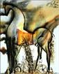 Salvador DALI (1904-1989)  Le cheval de Troie, les chevaux daliniens  Céramique d'après une aeuvre originale peinte par l'artiste en 1971  Signé en haut à gauche. Tirage limité à 490 exemplaires numérotés de numérotés de I/XD à XD/XD  25 x 20 cm