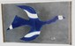 Georges BRAQUE (1882-1963), d'après  Oiseau bleu  Estampe en couleurs sur papier. Monogrammé en bas à droite (planche)  30 x 52 cm