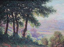 Adelin Charles MOREL DE TANGUY (1857-1930) Vue de Cagnes sur Mer