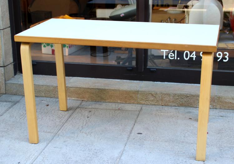 Alvar aalto 1898 1976 edition artek table ou bureau rect - Table bureau blanc ...