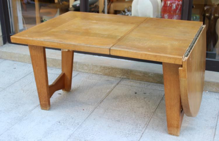 Table en ch ne rallonge de forme demi lune - Table chene rallonge ...