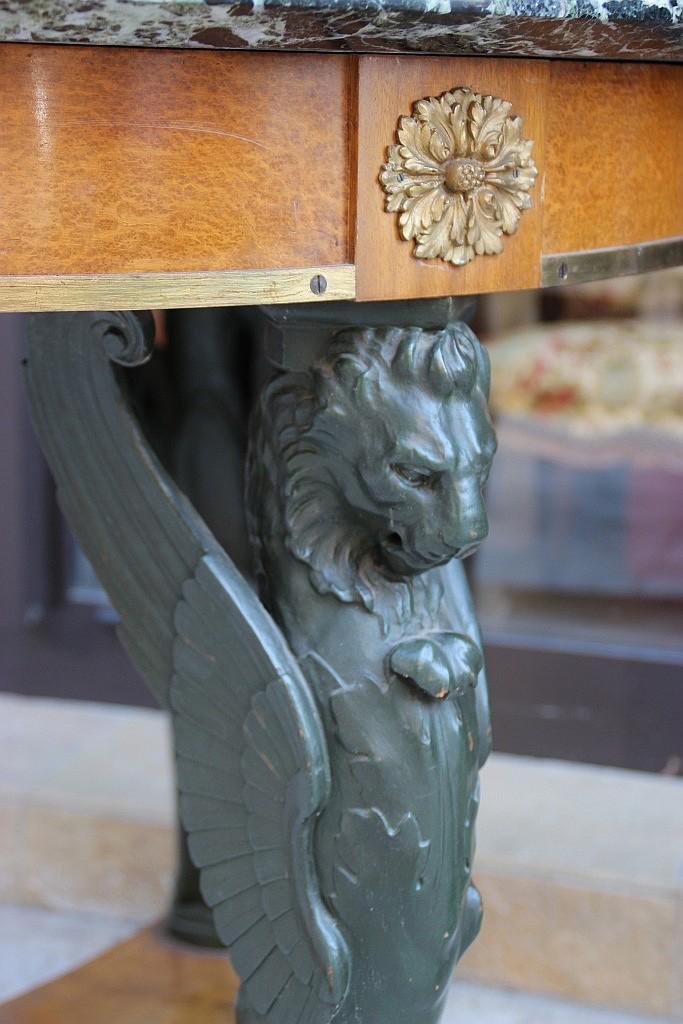 gu ridon circulaire en bois de placage et bois patin reposa. Black Bedroom Furniture Sets. Home Design Ideas