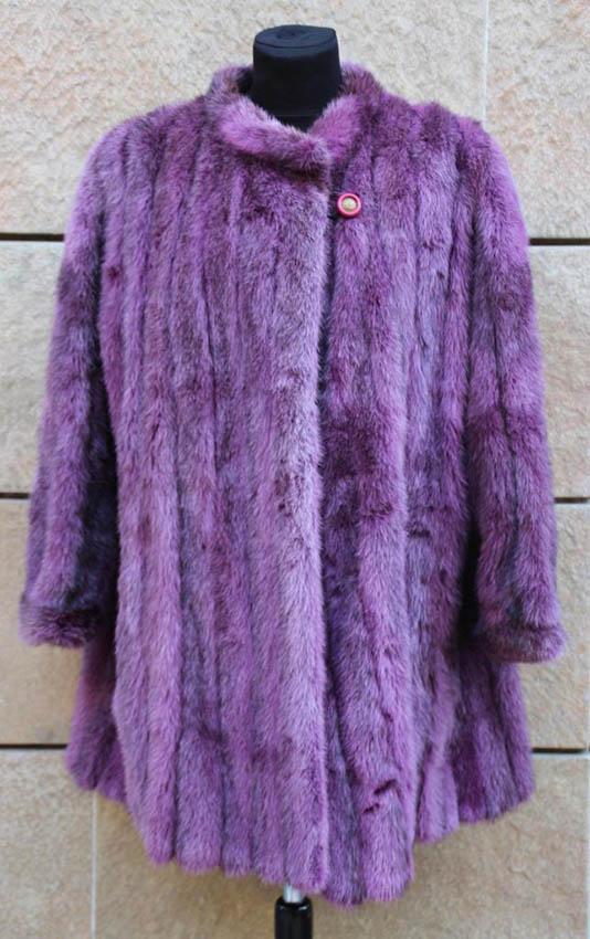 CHRISTIAN DIOR boutique Fourrure Veste courte en vison teinté violet