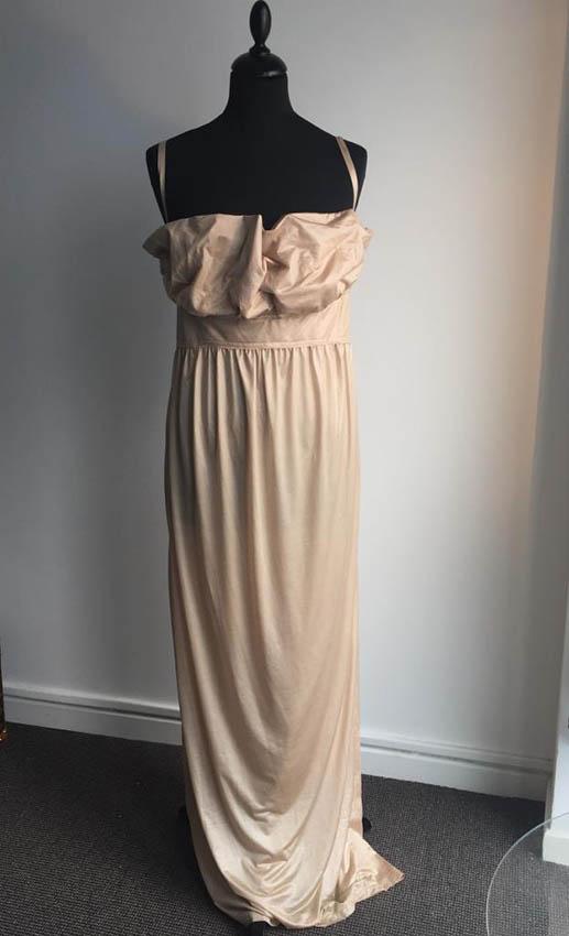 FENDI Longue robe sable en polyester à