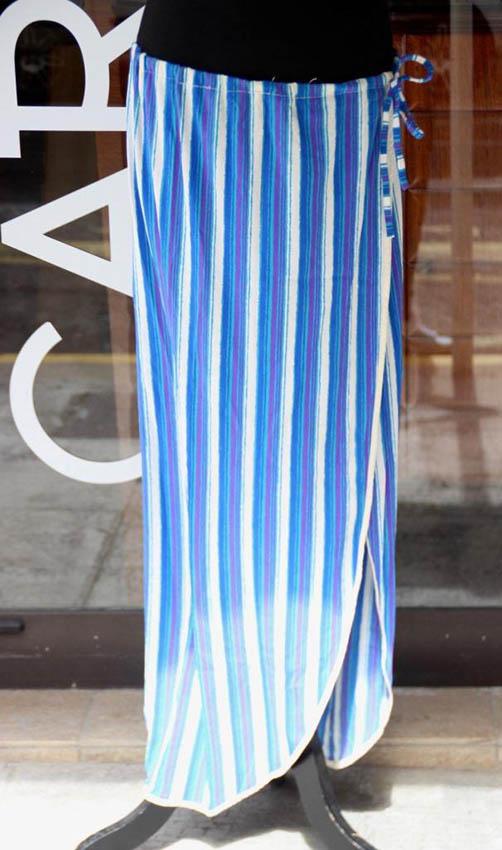 Christian DIOR Ensemble de 2 jupes paréo en soie dans les tons de bleu