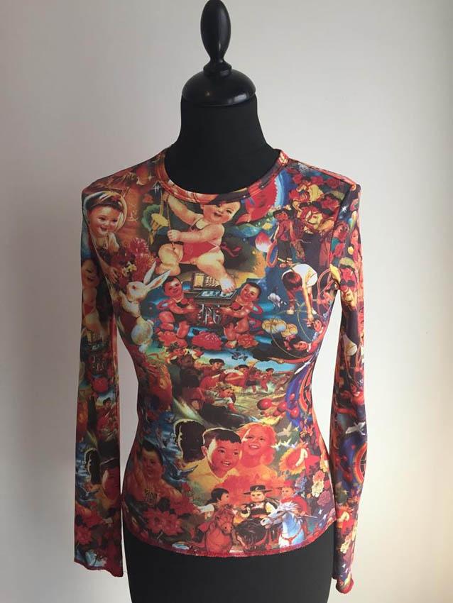 JEAN-PAUL GAULTIER t-shirt imprimé , taille M