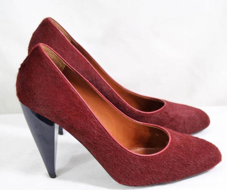 LANVIN Paire de chaussures en veau