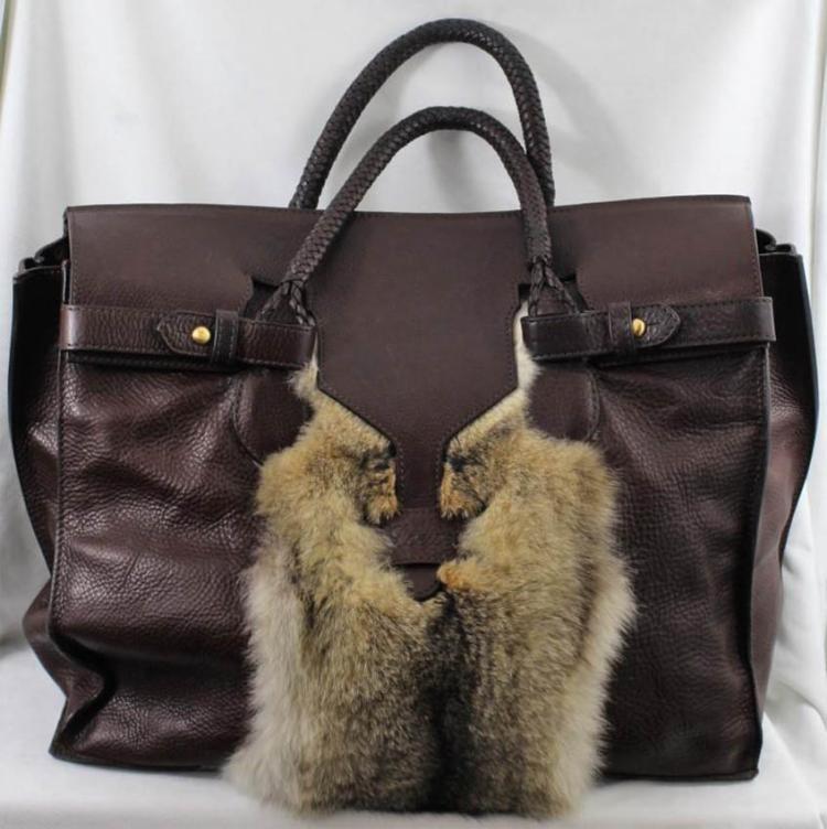 LOEWE Grand sac de voyage en cuir