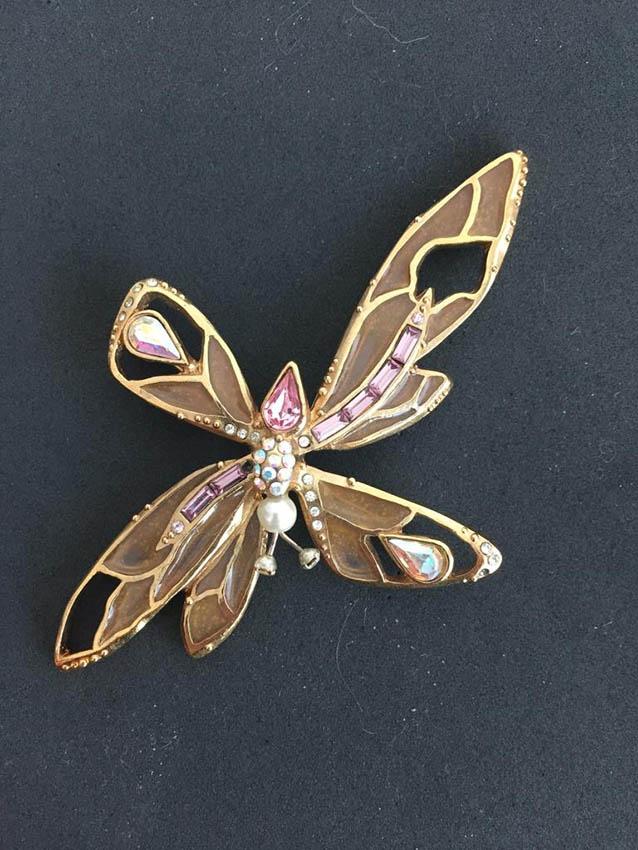 CHRISTIAN LACROIX Made in France Broche en forme de « Papillon »