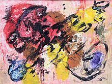 Jean VILLERI (1896-1982) Composition abstraite