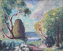 Emmanuel DE LA VILLEON (1861-1939) Paysage de Printemps