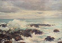 Marcel PARTURIER (1901-1976) Gros temps en Bretagne