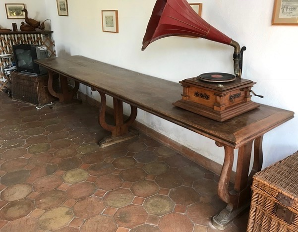 Grande table de réfectoire en bois naturel -> Bois Naturel Table Casablanca