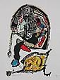 Jacques DOUCET (1924-1994)  Composition   Lithographie en couleurs sur papier.   Signé en bas à gauche. Numéroté 67/200 en bas à droite.  67 x 30 cm