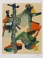 Maurice ESTEVE (1904-2001)   Composition   Lithographie en couleurs sur papier.  Signé en bas à droite. Numéroté 3/20 en bas à gauche.  56,5 x 45 cm
