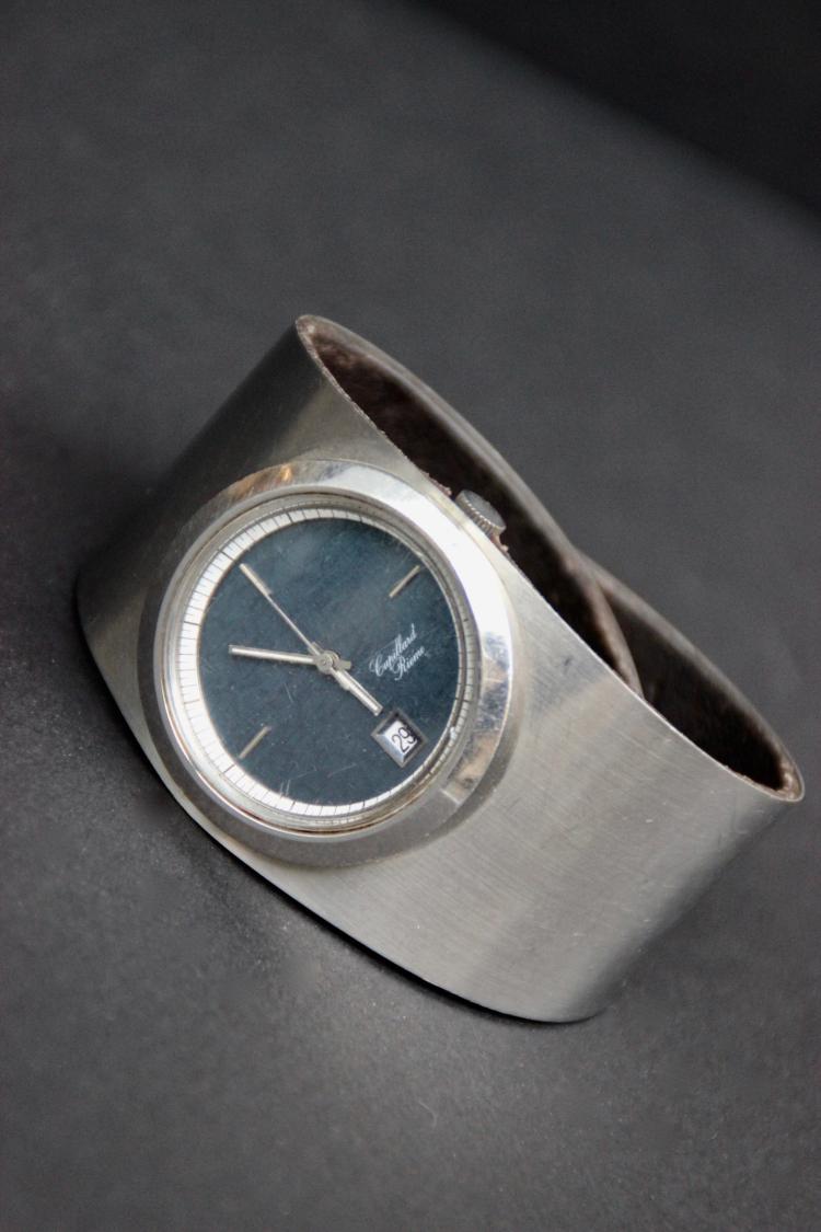cupillard rieme montre bracelet pour homme en acier et cuir. Black Bedroom Furniture Sets. Home Design Ideas