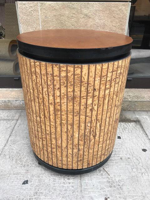 Travail des ann es 1970 meuble bar circulaire en placage de for Meuble croteau circulaire