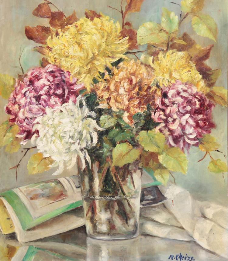 Ren e cheize xx bouquet de fleurs dans un vase for Bouquet de fleurs wine