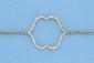 Bracelet en or orné d'un motif central double face serti de diamants et d'émail. P 3,9g