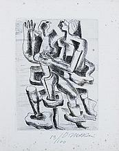 Ossip ZADKINE (1890-1967) - Personnages  Eau-forte