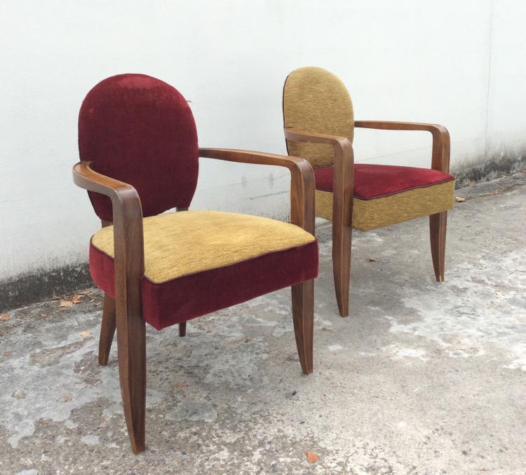Jean PASCAUD (1903-1996) - vers 1935 Paire de fauteuils