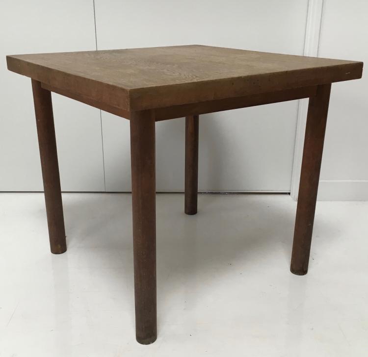 Ren Herbst Vers 1935 Rare Suite De Deux Tables Modernistes