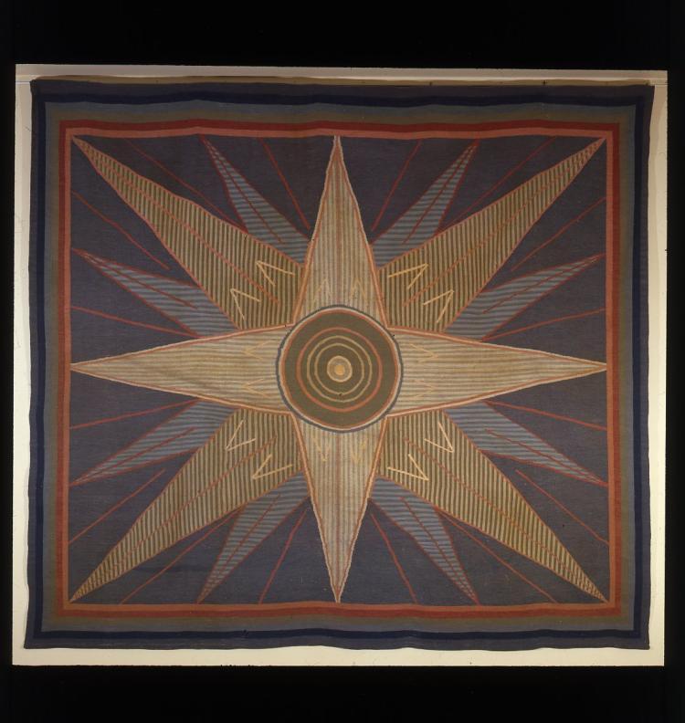 ANONYME, vers 1938  Tapis ras au point d'Aubusson