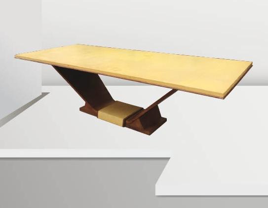 Travail français des années 30 Importante table en bois natu -> Bois Naturel Table Casablanca