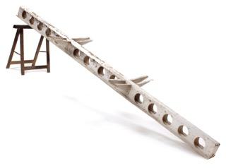 Jean PROUVÉ (1901-1984) - vers 1950 Module poutrelle en aluminium plié et découpé laqué blanc