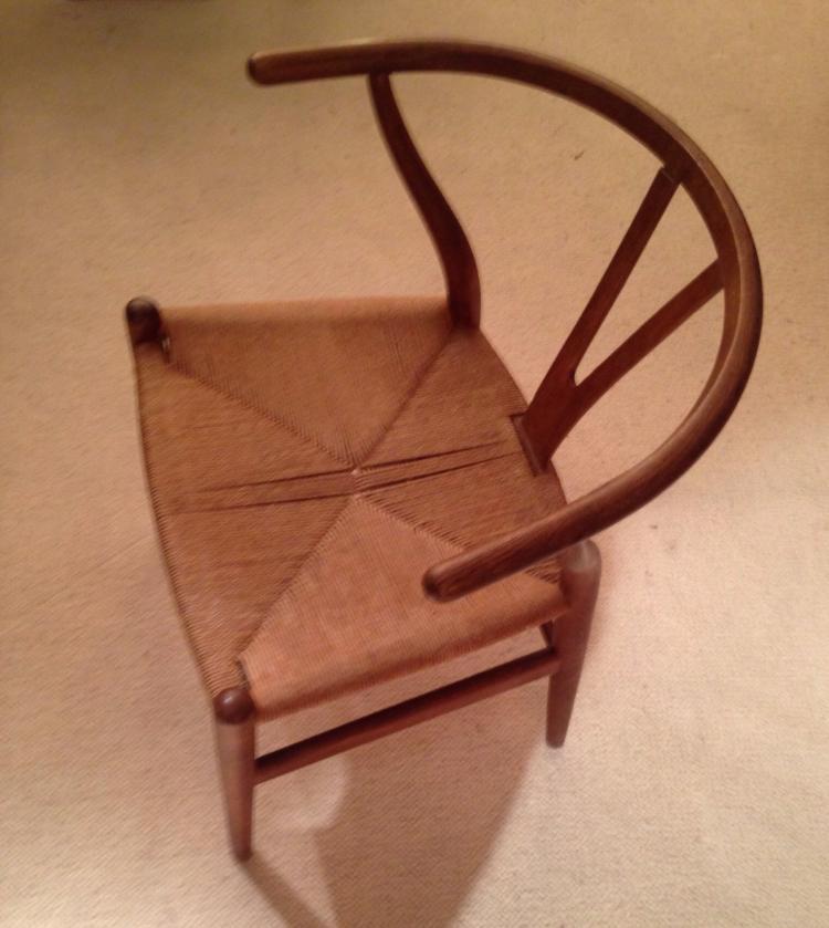 Hans J. WEGNER (1914-2007) - Edition Fritz Hansen - vers 1955  Rare fauteuil modèle CH24 ou